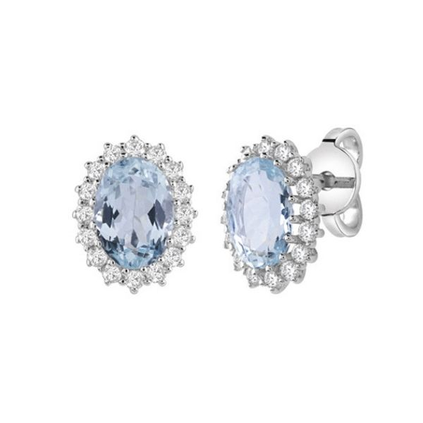 luxury aquamarine earrings