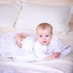 Christening gown baby boy set
