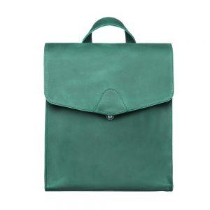 Green leather rucksack