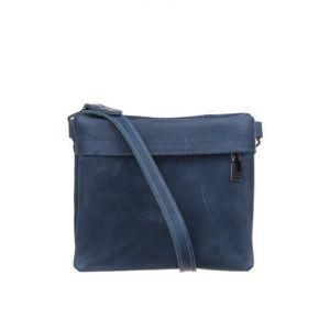 Blue leather waist bag