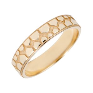 Modern wedding band for women