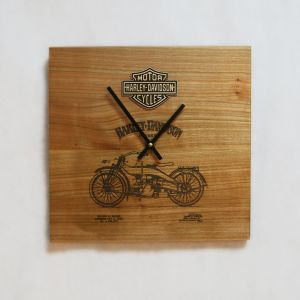 Country rustic wood wall clock