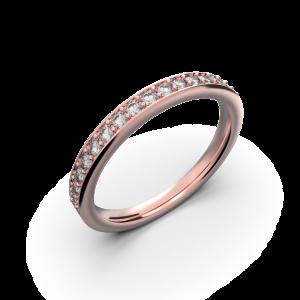 Rose gold wedding diamond ring 0,235 carat