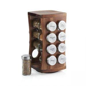 16-Jar Wood Spice Rack