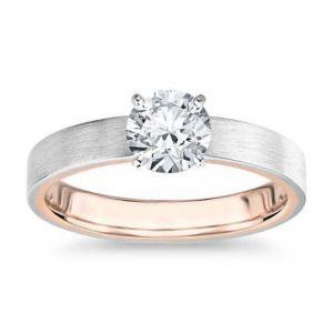 Gold diamond ring 0.480 carat