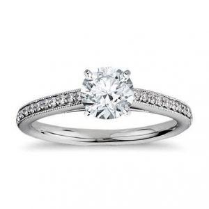Gold ring for women 0.500 carat