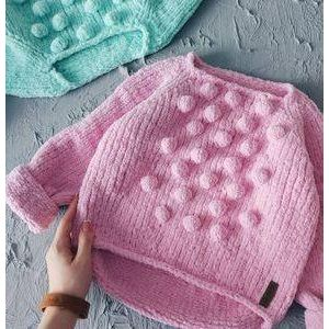 "Baby girl crochet sweater ""Sweet Dreams"""