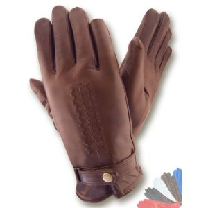 Mens fur lined leather gloves