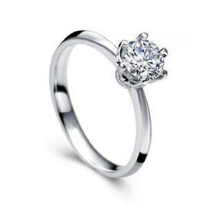 Gold engagement diamond ring for women