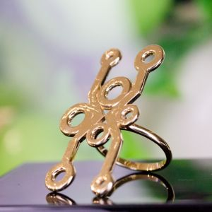 Abstract gold ring