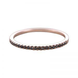 Black diamond half eternity ring