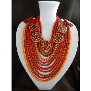 Chunky ethnic necklace