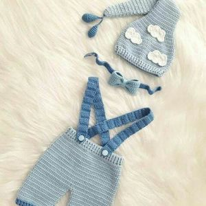 Baby boy crochet outfit