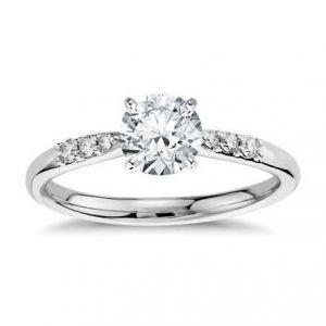 Gold diamond ring for women 1 carat