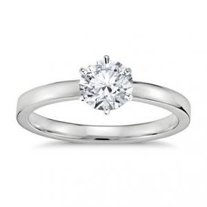 Simple gold ring with diamond 1 carat