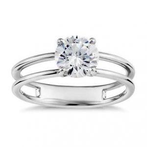 Modern gold diamond ring 1 carat