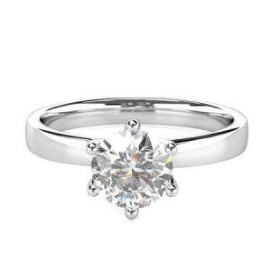 Gold diamond engagement ring 1 carat