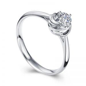 White diamond ring for her 0.2 carat