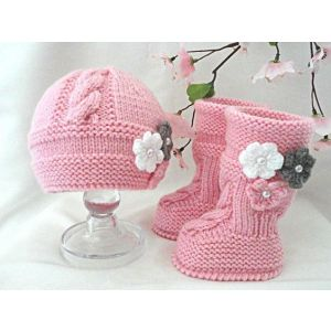 Knitted baby girl set