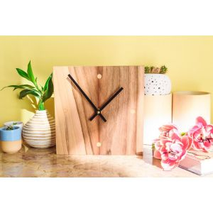 Modern Silent Non Ticking Wood Clock