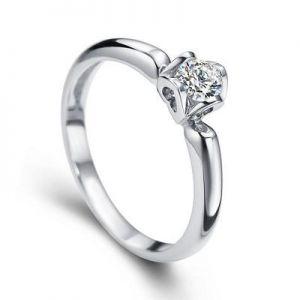 Gold diamond engagement ring