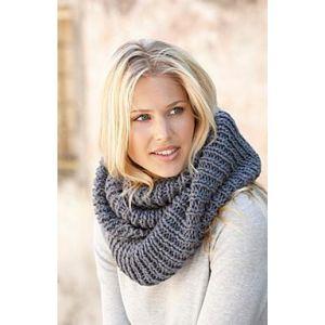 Grey wool winter scarf for women