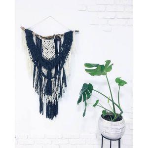 Bohemian macrame yarn decor