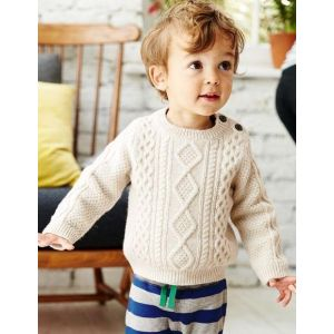 Beige crochet jumper for boy
