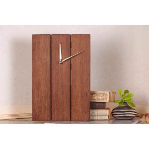 Large wooden minimalist wall clock
