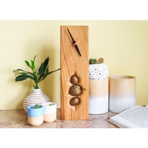 Small wood clock for wall decor