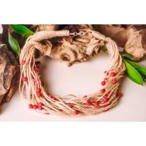 "Organic Handmade Necklace ""Cranberry"""