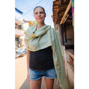 Pistachio pashmina scarf for women