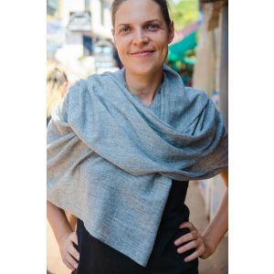 Pale blue pashmina shawl
