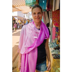 Bright pink indian scarf