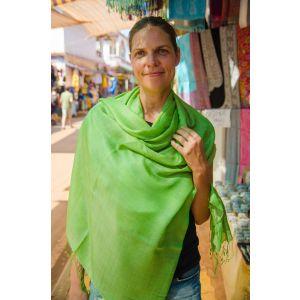 Brightly green shawl