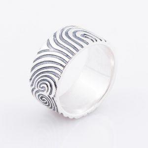 Fingerprint ring for him