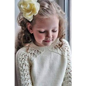 Hand knitting girl sweater