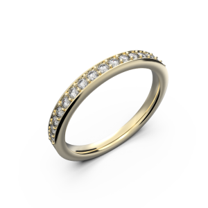 Yellow gold wedding diamond ring 0,235 carat