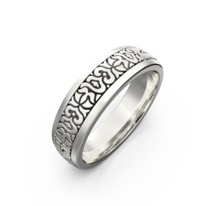 Women's gold carved ring