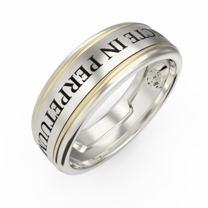 Men's gold engraved ring