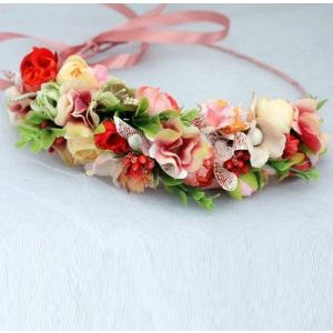 """Adjustable floral hair piece """"Happy summer day"""""""