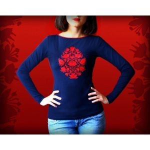 Amazing embroidery designs. «Baroque tree» pullover