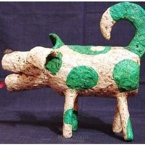 "Animal figurines ""Green dog"""
