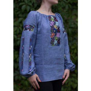 Applique embroidery designs. Woman blouse