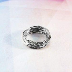 "Artisan crafted rings. Silver ring ""Plexus"""