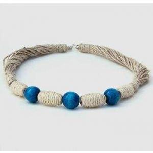 "Artisan Handmade Necklace ""Blueberry"""