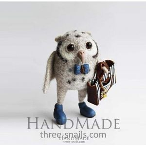 """Author's toys for children """"Owl with bag"""""""