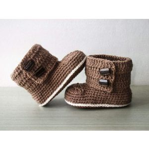 "Baby booties ""Choco-toes"""