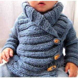 Baby boy knitted cardigan