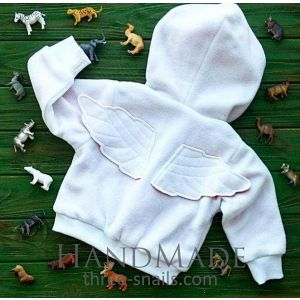 "Baby fleece jacket ""White angel"""